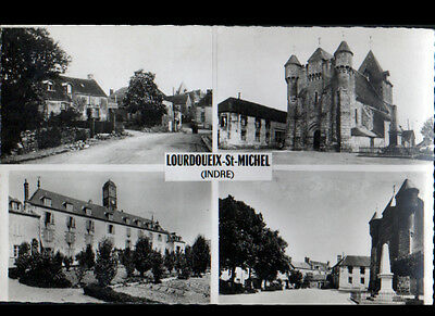 LOURDOUEIX-ST-MICHEL (36) COLLEGE-PENSION , EGLISE , MONUMENT aux MORTS en 1958
