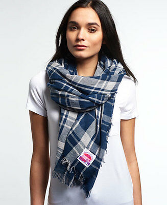 New Unisex Superdry Summer Capital Scarf Navy