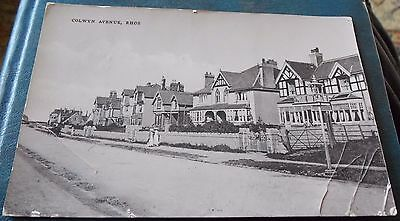 Colwyn Avenue,rhos On Sea,real Photo Postcard Posted 1920