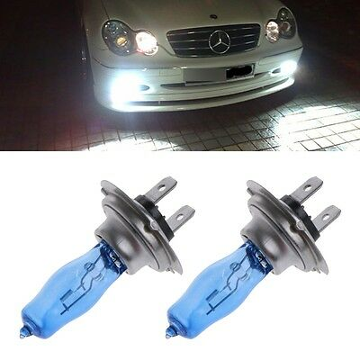 1 Pair H7 55W 12V Xenon HOD White 6000k Halogen Car Head Light Globe Bulb Lamp