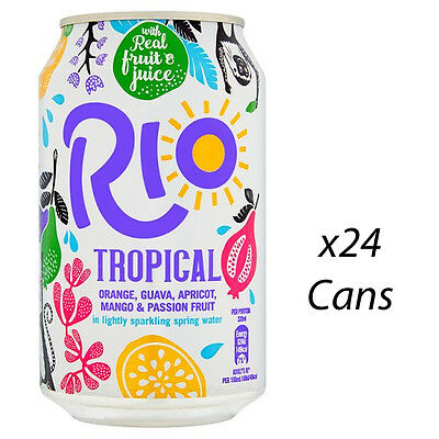 RIO TROPICAL 330ml CANS X 24 FULL CASE RETAIL CATERING WHOLESALE SUPPLIES 811034