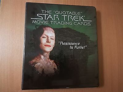 Star Trek Quotable Movies Official Rittenhouse Archives Binder