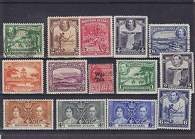 British Guiana KGV - KGVI 2x Used stamp Mounted Mint Collection