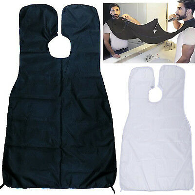 Beard Shave Apron Cape Gather Cloth Bib Facial Hair Whisker Trimming Catcher Men