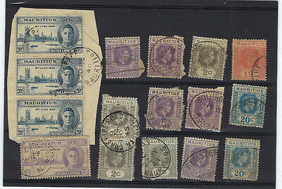Timbre Mauritius/ile Maurice Lot De Timbres Georges 6 Obliteres
