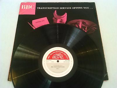 ** Bbc Transcription Service ** Offers You... Audition Only Not For Broadcast Lp