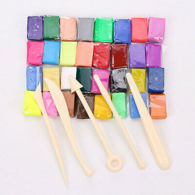 32PCS Oven Bake Polymer Clay Block Modelling Sculpey Moulding Tool Set Kids Toy