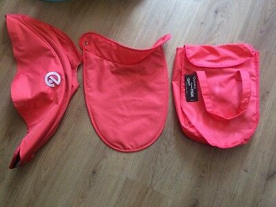 Oyster 2 Oyster Max Carrycot Colour Pack Coral Excellent Condition