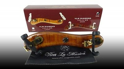 Viva La Musica DIAMOND Walnut Shoulder Rest 4/4 Violin Violin Shoulder Rest