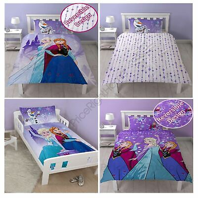 Disney Frozen Snowflake Duvet Cover Sets Single And Junior & Matching Curtains