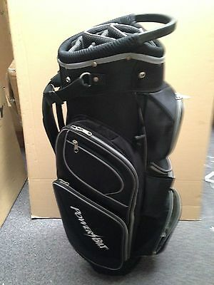 *NEW*  Golf cart trolley bag 14 way divider black 9 pockets 3