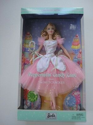New 2002 Peppermint Candy Cane Barbie Doll Classic Ballet The Nutcracker 57578