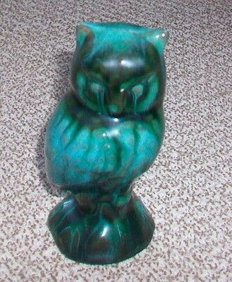 Blue Mountain Pottery Stoneware Green 5.00 Inches Tall Owl