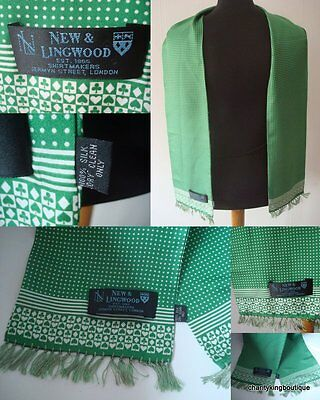 Designer New And Lingwood Men's Silk Polka Dot Scarf Dapper
