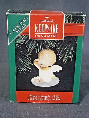 """Hallmark Mary's Angels """"lily"""" Ornament 5Th In Series"""