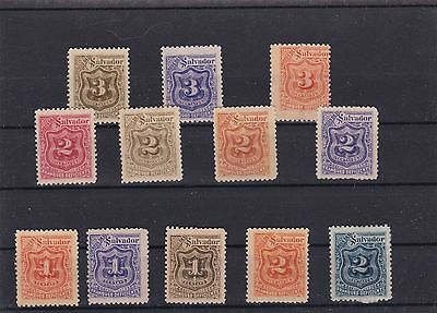 El Salvador  Mounted Mint Or Used Stamps On  Stock Card  Ref R1041