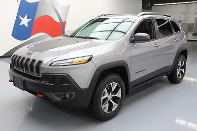 2017 Jeep Cherokee  2017 JEEP CHEROKEE TRAILHAWK 4X4 LEATHER REAR CAM 16K #514977 Texas Direct Auto
