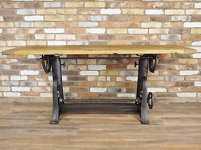 Industrial vintage cast iron dining table adjustable height tilt top Awesome
