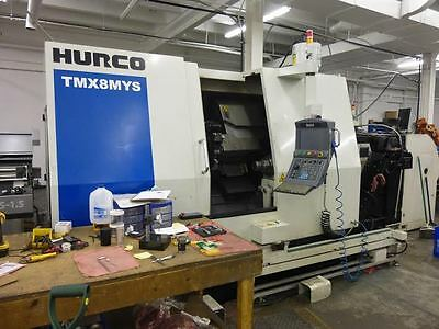 HURCO Model TMX8MYS CNC Turning Center Live Tool Turret, Sub Spindle and Y-Axis