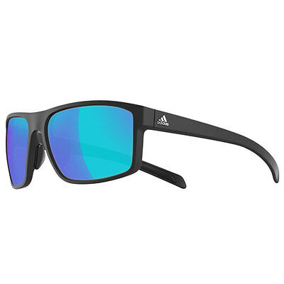 Adidas Sport Whipstart Sunglasses - Black Matt (Blue Mirror)