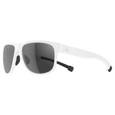 Adidas Sport Sprung Sunglasses - White Matt (Grey Tint)