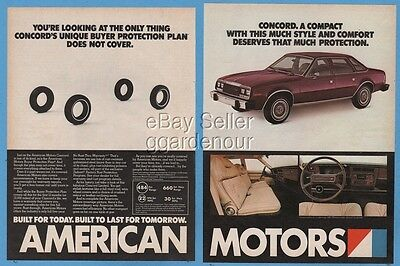 1980 AMC Concord American Motors red car interior photo vintage print ad