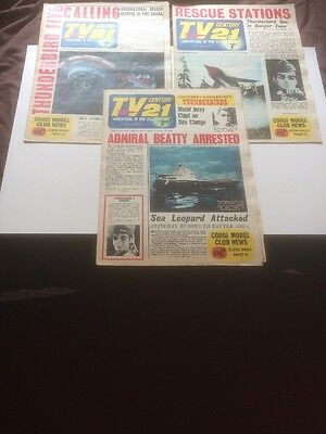 TV  Century 21 comics, 3 Different Issues Number 53,54,55, From 1966