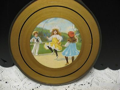 """8"""" Chimney Flue Cover, Colonial Children Skipping Rope"""