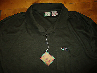 "NEW $ FOX  Men's Large  chest= 48"" green GOLF polo SHIRT Athletic SPORTS"