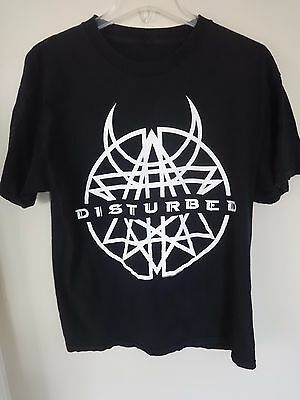 Vintage Disturbed Band Graphic Printed Band Tour T-Shirt Size Men Large