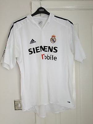 Adidas REAL MADRID Football Shirt 2004 Soccer Jersey Men's Extra Large Home XL