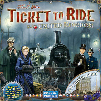 TICKET TO RIDE UNITED KINGDOM - Gioco da tavolo Espansione ITALIANO Asmodee