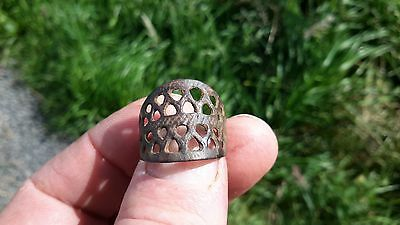 Lovely Bronze Viking Period Openwork Ring-Detecting Find