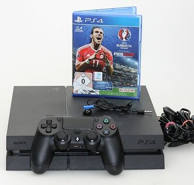 Sony PlayStation 4 - 1TB Edition mit Pro Evolution Soccer 2016 + Controller
