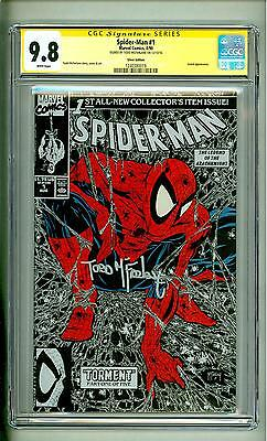 Spider-Man #1 Cgc 9.8 Silver Torment 1990 Ss Todd Mcfarlane Signed
