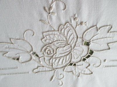 "TABLECLOTH  HAND EMBROIDERED with MADEIRA EMBROIDERY 48""x 66"""
