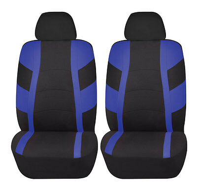 Racerline 4pc Low back Front Car Seat covers Polyester Universal Blue