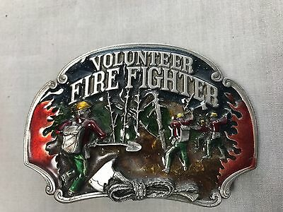 Volunteer Fire Fighter Belt Buckle Wildland Theme