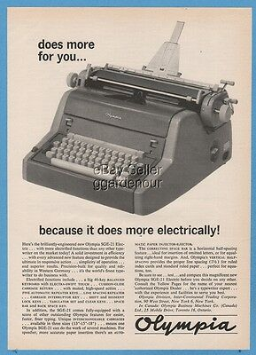 1961 Olympia SGE 21 Electric Office Typewriter West Germany 60s Vintage Photo Ad