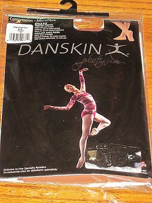 Woman's Danskin Platinum Footed Compression Dance Tights Size D Toast  NWT