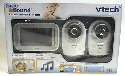 VTech VM341-2 Safe&Sound Full Color Video baby Monitor with 2 Cameras