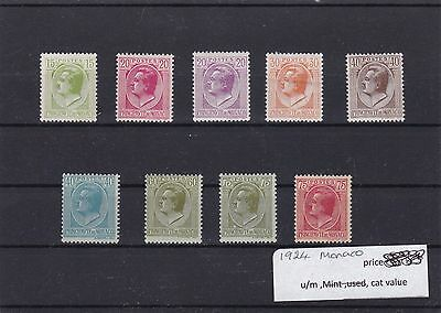 Monaco 1924   Mounted Mint  Stamps  Ref R1172