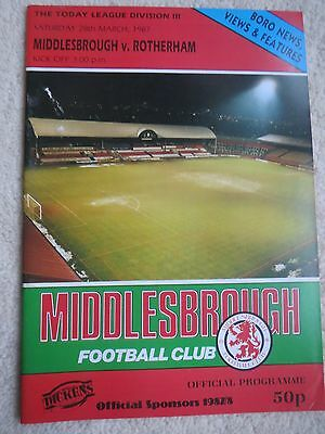Middlesbrough V Rotherham 1986/7