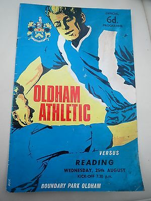Oldham V Reading    1965/6