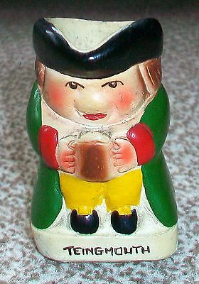 POTTERY  CHARACTER  JUG  2.325 TALL  (7/514)  Glazed TEINGMOUTH