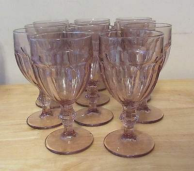 "Libbey Set of 11 Heavy Durable GIBRALTAR 6-3/4"" Water Goblets Glass"