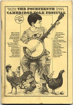 Billy Connolly Paxton Havens Grossman Clannad Shirley Collins 1978 Programme