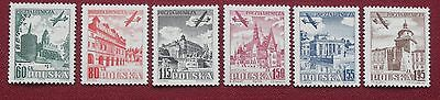 POLAND -1954 - AIRMAIL Full Set of 6 - MH