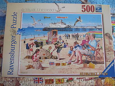 RAVENSBURGER 500 PIECE JIGSAW  A DAY AT THE BEACH by ANDY WALKER