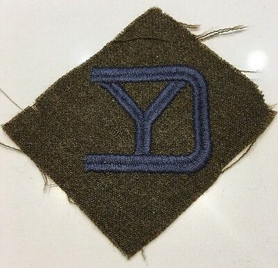 "WWI U.S. Army Patch 26th ""Yankee"" Division AEF American Expedition Forces Wool"